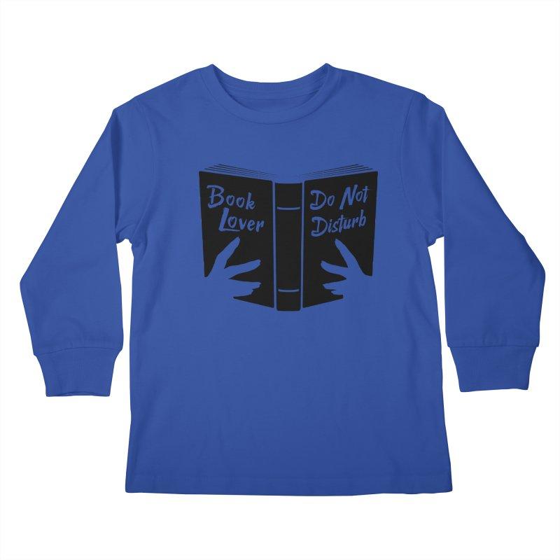 Book Lover, Do Not Disturb II Kids Longsleeve T-Shirt by Grandio Design Artist Shop