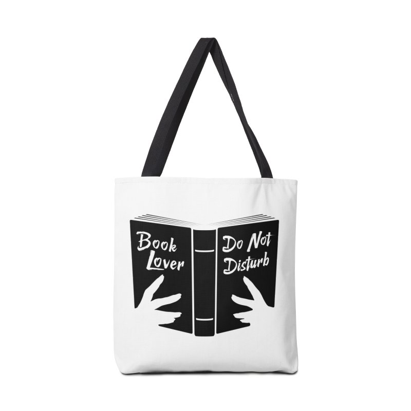 Book Lover, Do Not Disturb II Accessories Bag by Grandio Design Artist Shop