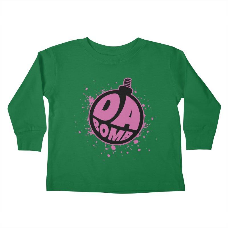 Da Bomb Kids Toddler Longsleeve T-Shirt by Grandio Design Artist Shop