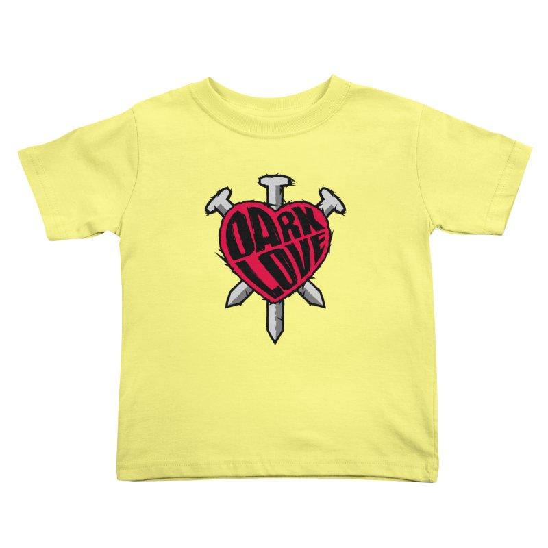 Dark Love Kids Toddler T-Shirt by Grandio Design Artist Shop