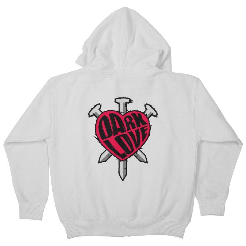 Dark Love Kids Zip-Up Hoody by Grandio Design Artist Shop