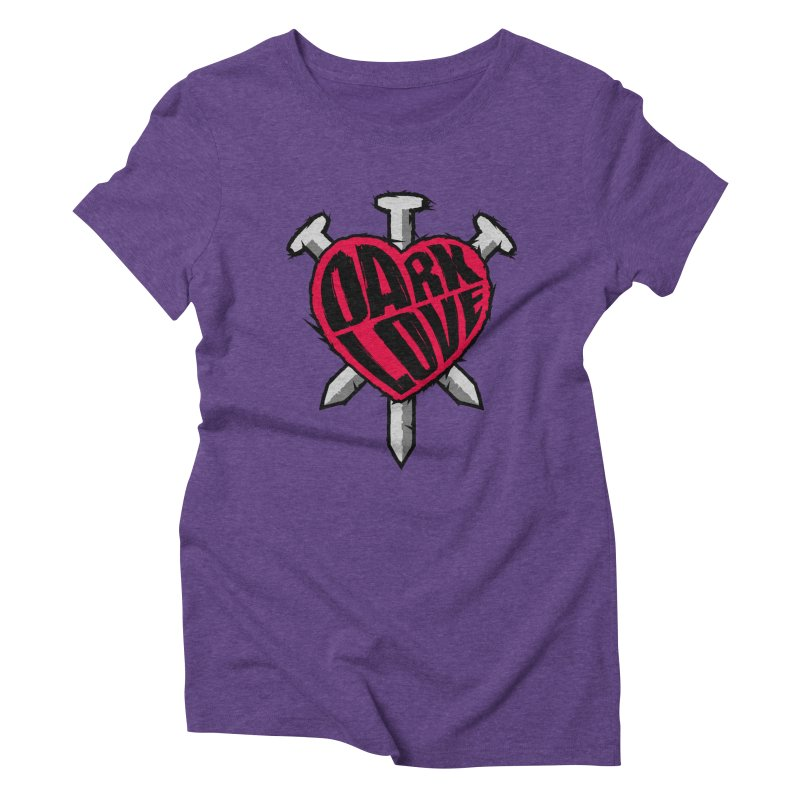 Dark Love Women's Triblend T-Shirt by Grandio Design Artist Shop