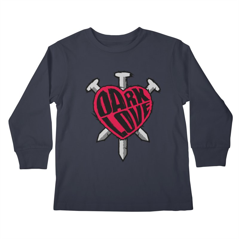 Dark Love Kids Longsleeve T-Shirt by Grandio Design Artist Shop