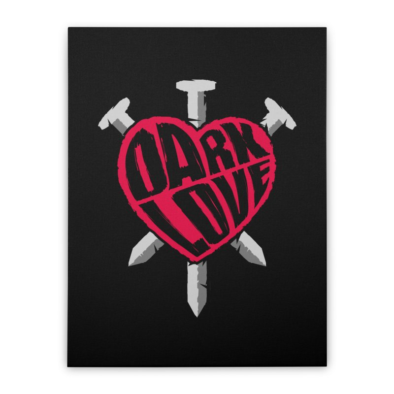 Dark Love Home Stretched Canvas by Grandio Design Artist Shop