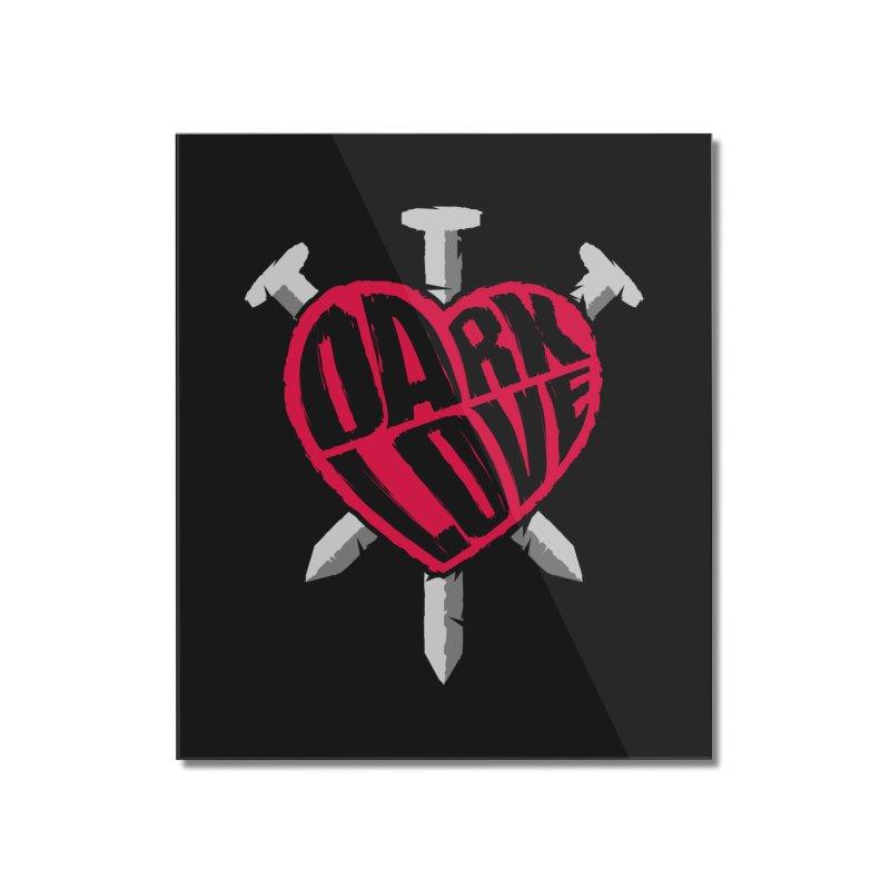 Dark Love Home Mounted Acrylic Print by Grandio Design Artist Shop