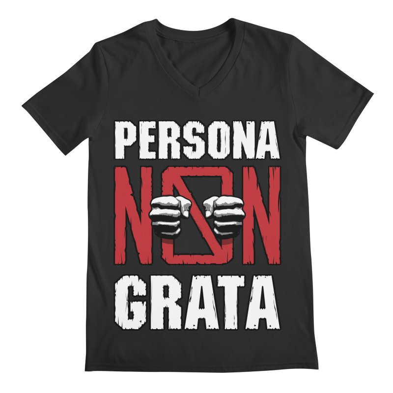 Persona Non Grata Men's V-Neck by Grandio Design Artist Shop