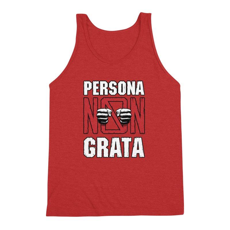 Persona Non Grata Men's Triblend Tank by Grandio Design Artist Shop