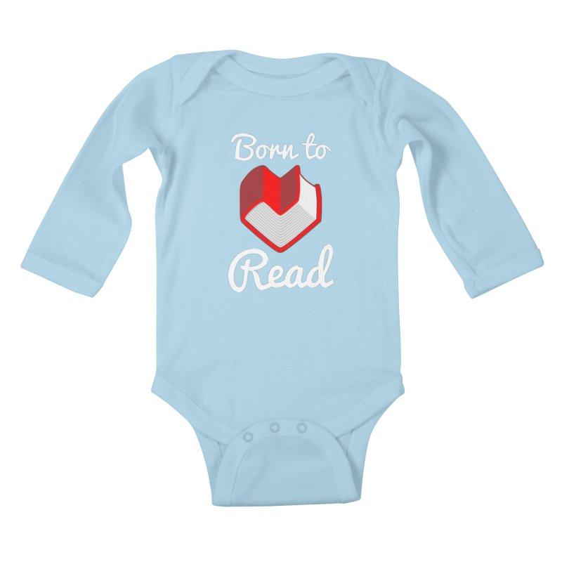 Born to Read Kids Baby Longsleeve Bodysuit by Grandio Design Artist Shop