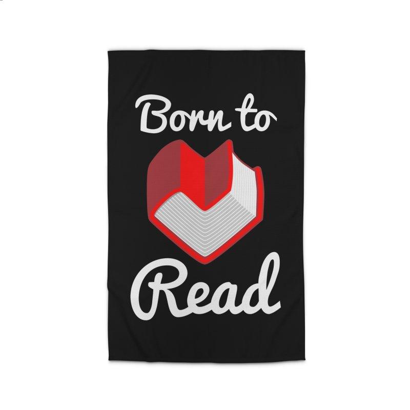 Born to Read Home Rug by Grandio Design Artist Shop