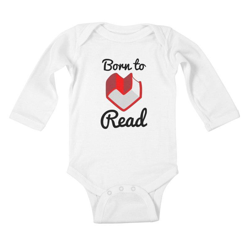 Born to Read II Kids Baby Longsleeve Bodysuit by Grandio Design Artist Shop