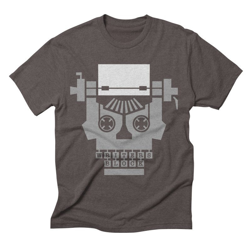 Writer's Block Men's Triblend T-Shirt by Grandio Design Artist Shop