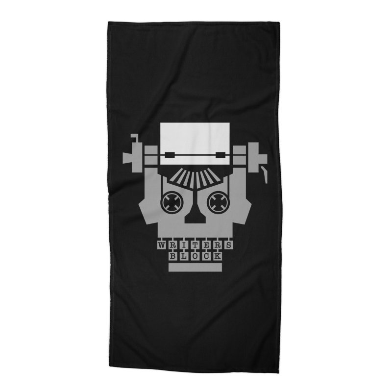 Writer's Block Accessories Beach Towel by Grandio Design Artist Shop