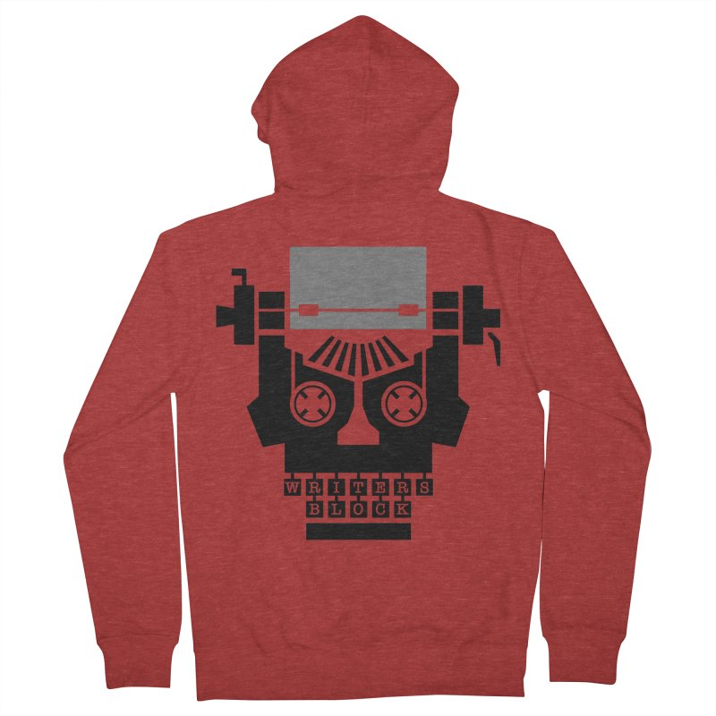 Writer's Block II Men's Zip-Up Hoody by Grandio Design Artist Shop