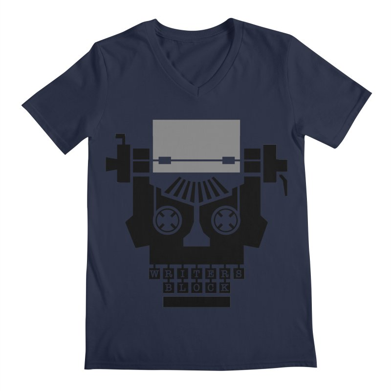 Writer's Block II Men's V-Neck by Grandio Design Artist Shop