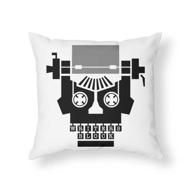 Writer's Block II Home Throw Pillow by Grandio Design Artist Shop
