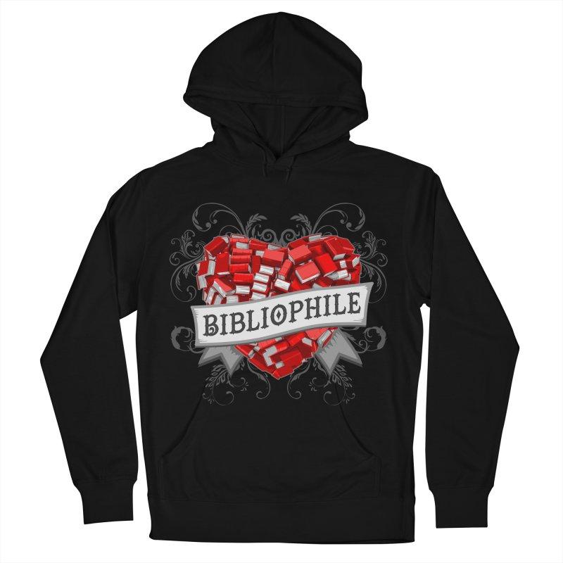 Bibliophile Heart Men's Pullover Hoody by Grandio Design Artist Shop