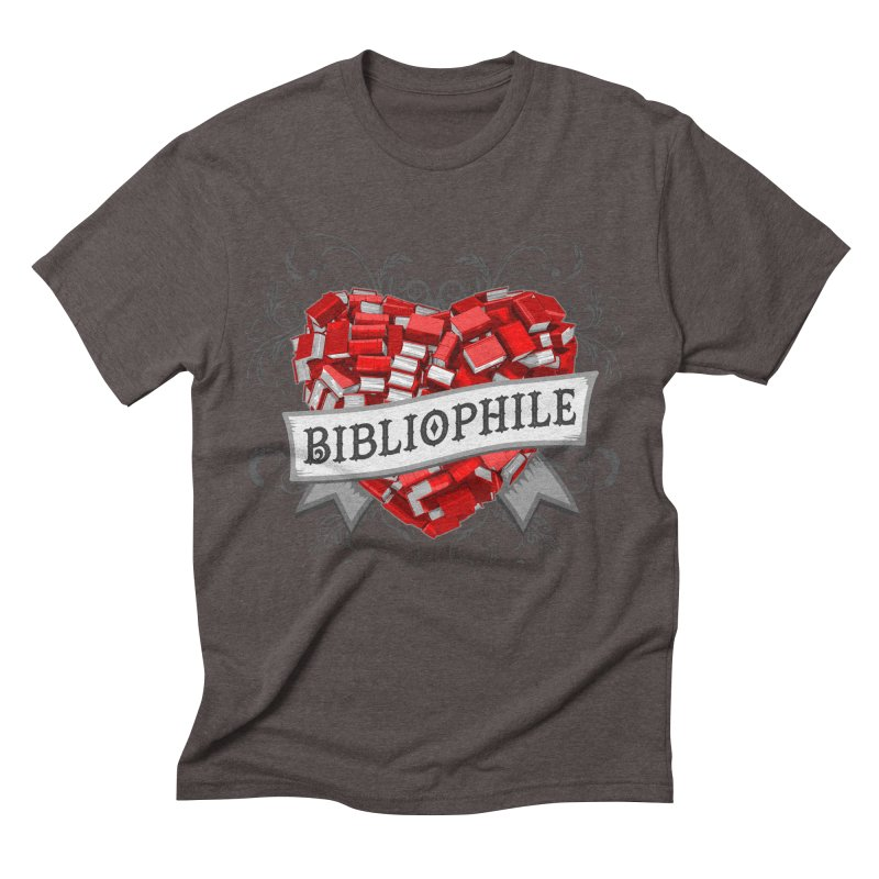Bibliophile Heart Men's Triblend T-Shirt by Grandio Design Artist Shop