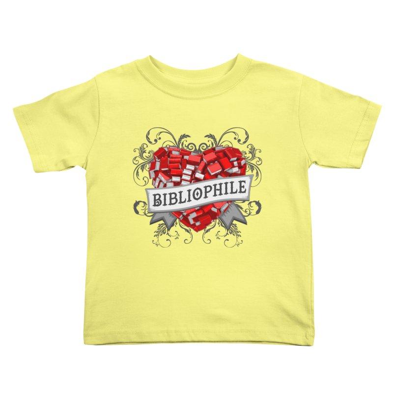 Bibliophile Heart Kids Toddler T-Shirt by Grandio Design Artist Shop