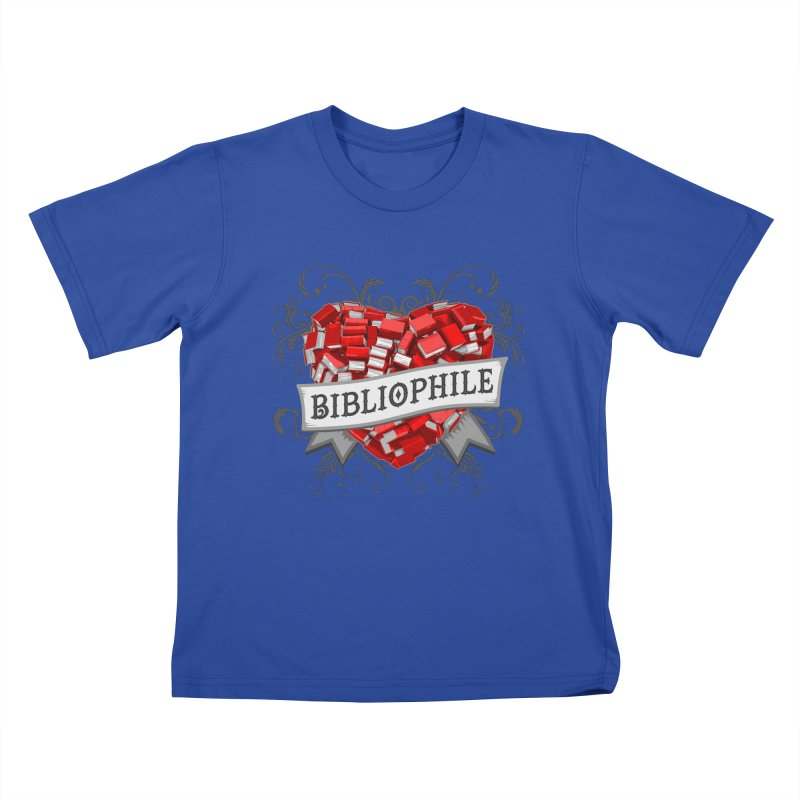 Bibliophile Heart Kids T-Shirt by Grandio Design Artist Shop
