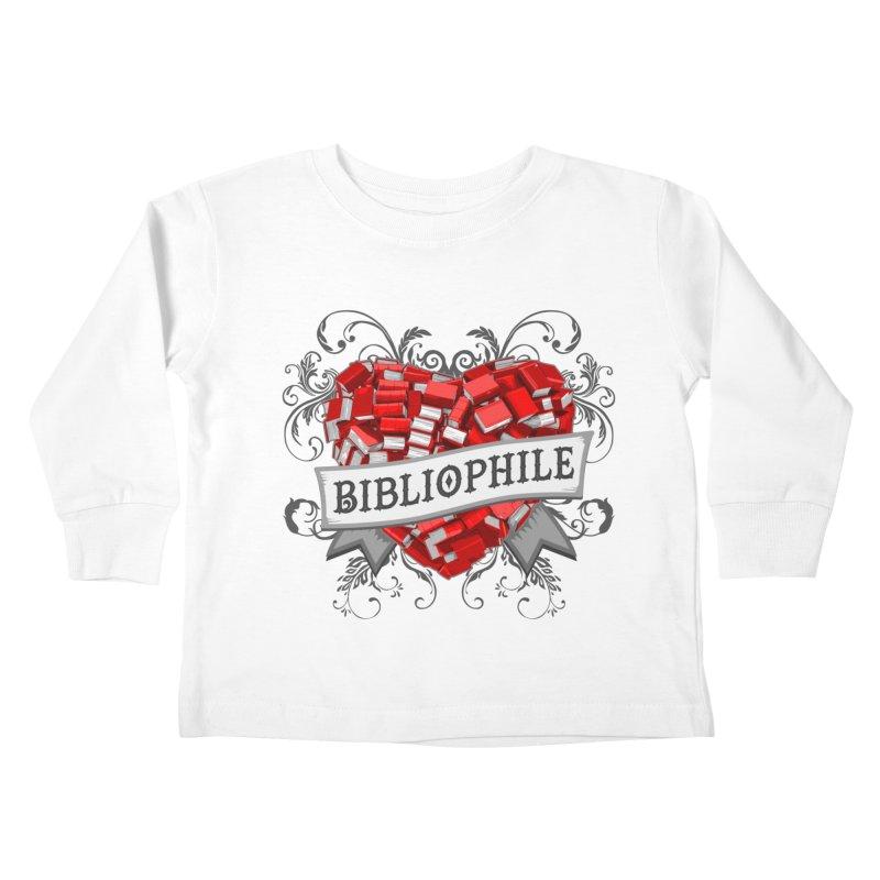 Bibliophile Heart Kids Toddler Longsleeve T-Shirt by Grandio Design Artist Shop