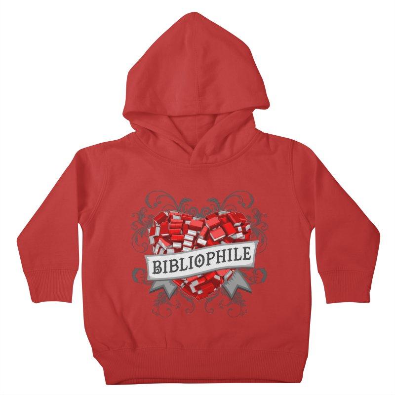 Bibliophile Heart Kids Toddler Pullover Hoody by Grandio Design Artist Shop