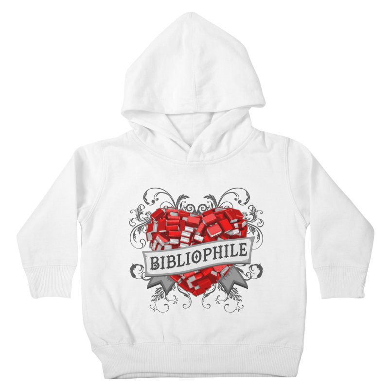Bibliophile Heart Kids Toddler Pullover Hoody by Grandio Design Artist Shop