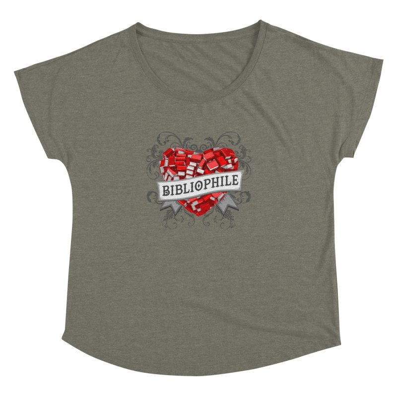 Bibliophile Heart Women's Dolman by Grandio Design Artist Shop