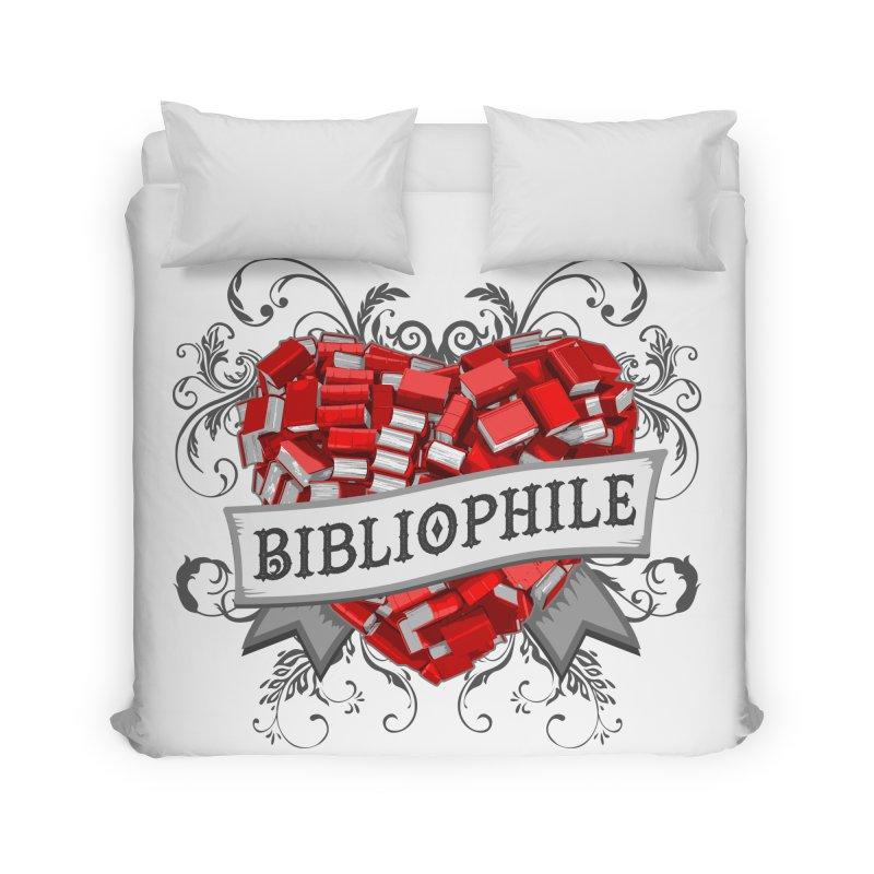 Bibliophile Heart Home Duvet by Grandio Design Artist Shop
