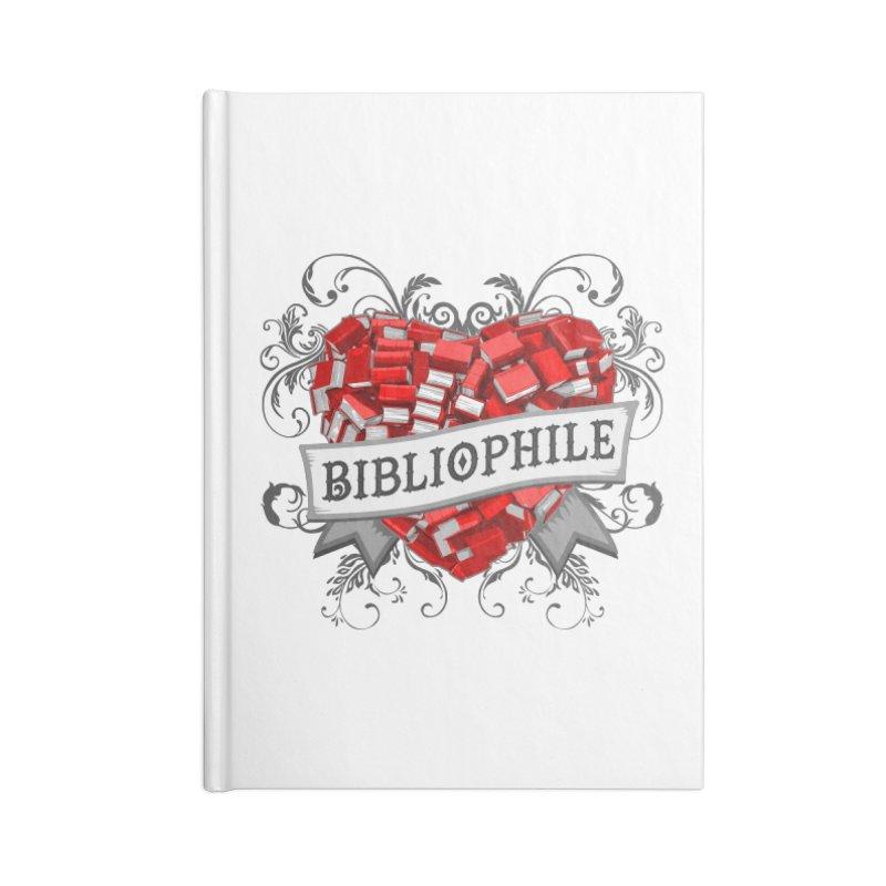 Bibliophile Heart Accessories Notebook by Grandio Design Artist Shop