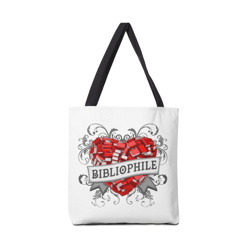 Bibliophile Heart Accessories Bag by Grandio Design Artist Shop