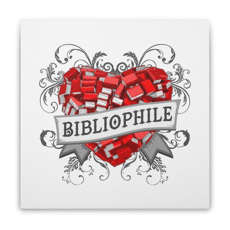 Bibliophile Heart Home Stretched Canvas by Grandio Design Artist Shop