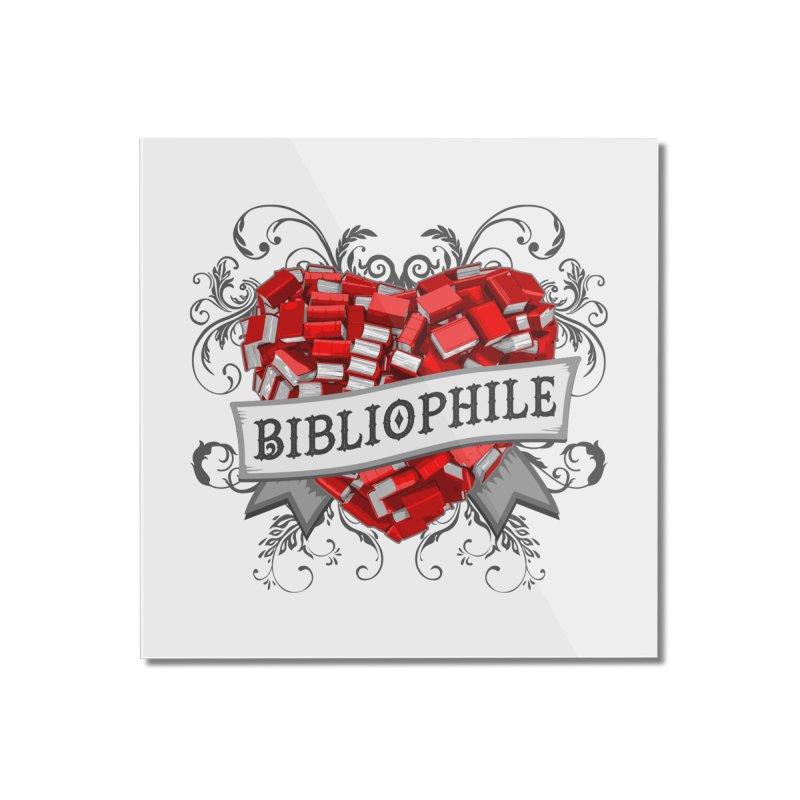 Bibliophile Heart Home Mounted Acrylic Print by Grandio Design Artist Shop