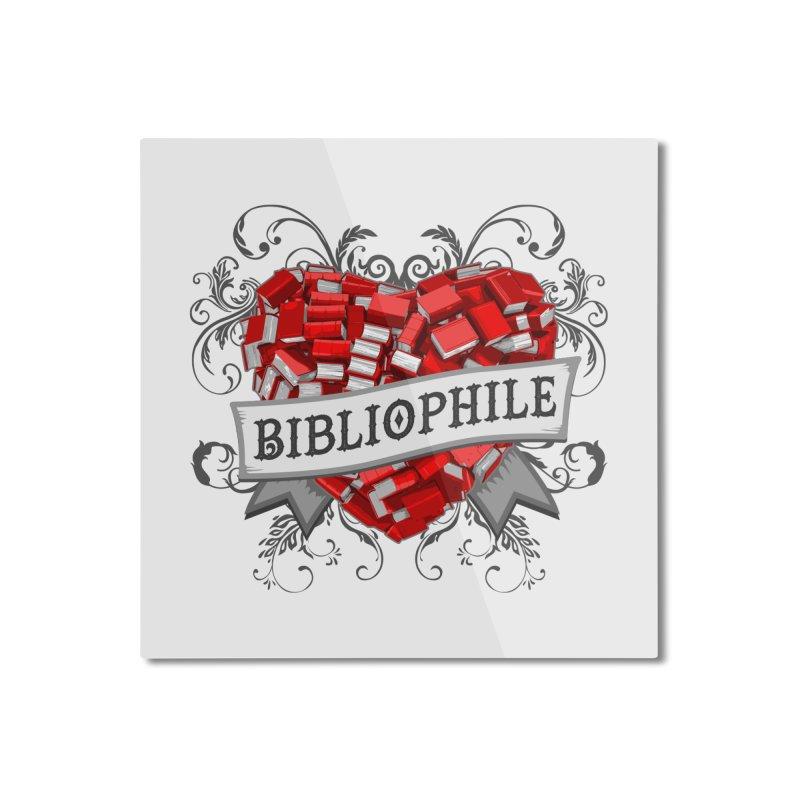 Bibliophile Heart Home Mounted Aluminum Print by Grandio Design Artist Shop