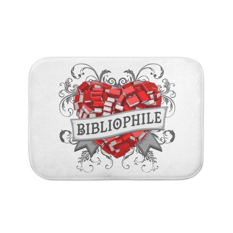 Bibliophile Heart Home Bath Mat by Grandio Design Artist Shop