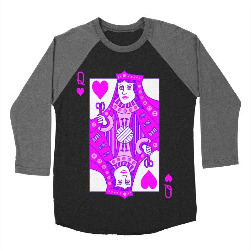 Queen of Crochet Men's Baseball Triblend T-Shirt by Grandio Design Artist Shop