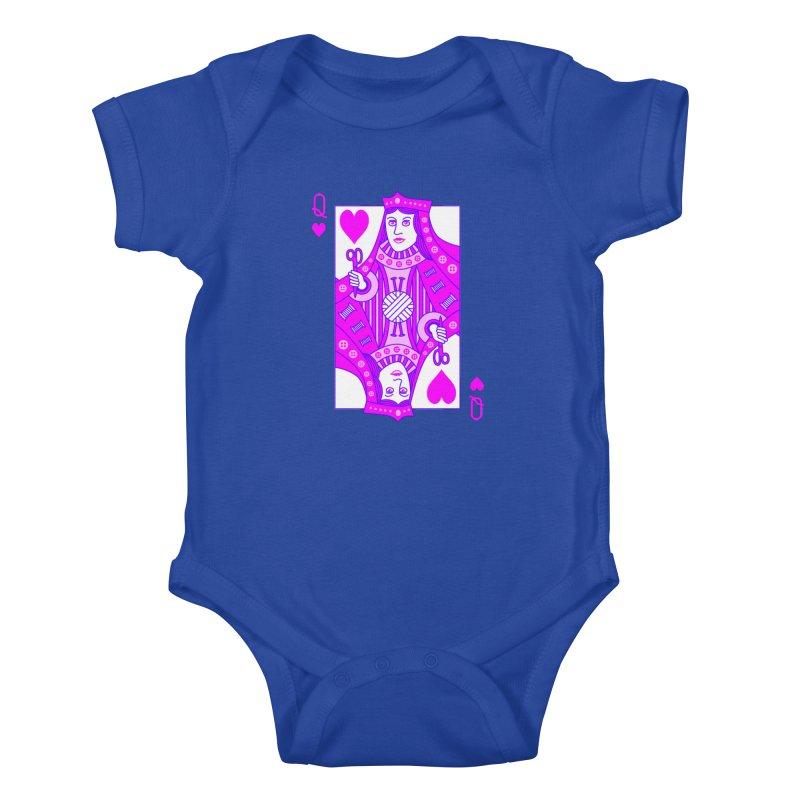 Queen of Crochet Kids Baby Bodysuit by Grandio Design Artist Shop