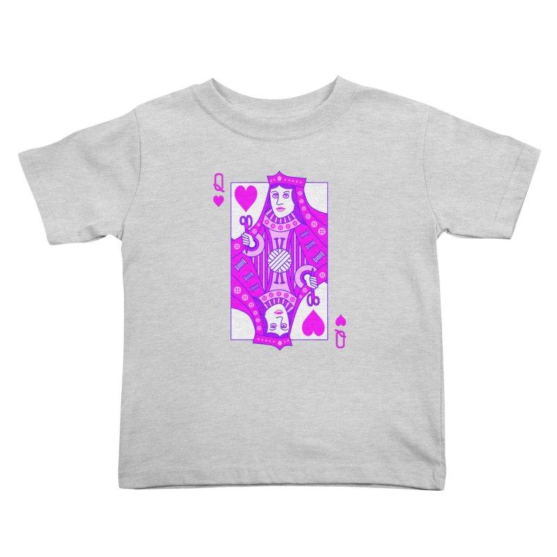 Queen of Crochet Kids Toddler T-Shirt by Grandio Design Artist Shop