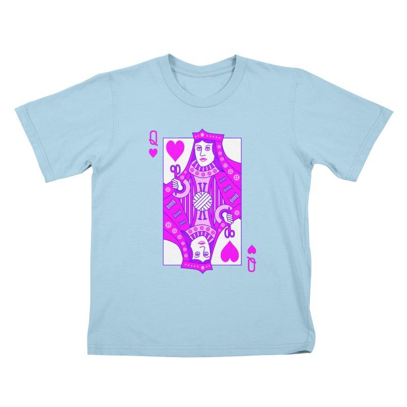 Queen of Crochet Kids T-Shirt by Grandio Design Artist Shop