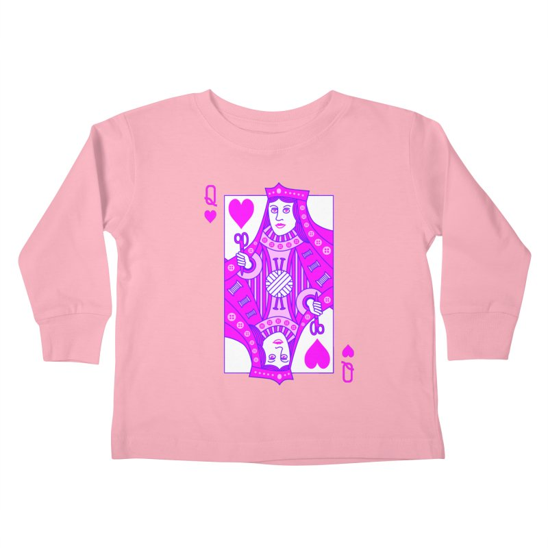 Queen of Crochet Kids Toddler Longsleeve T-Shirt by Grandio Design Artist Shop