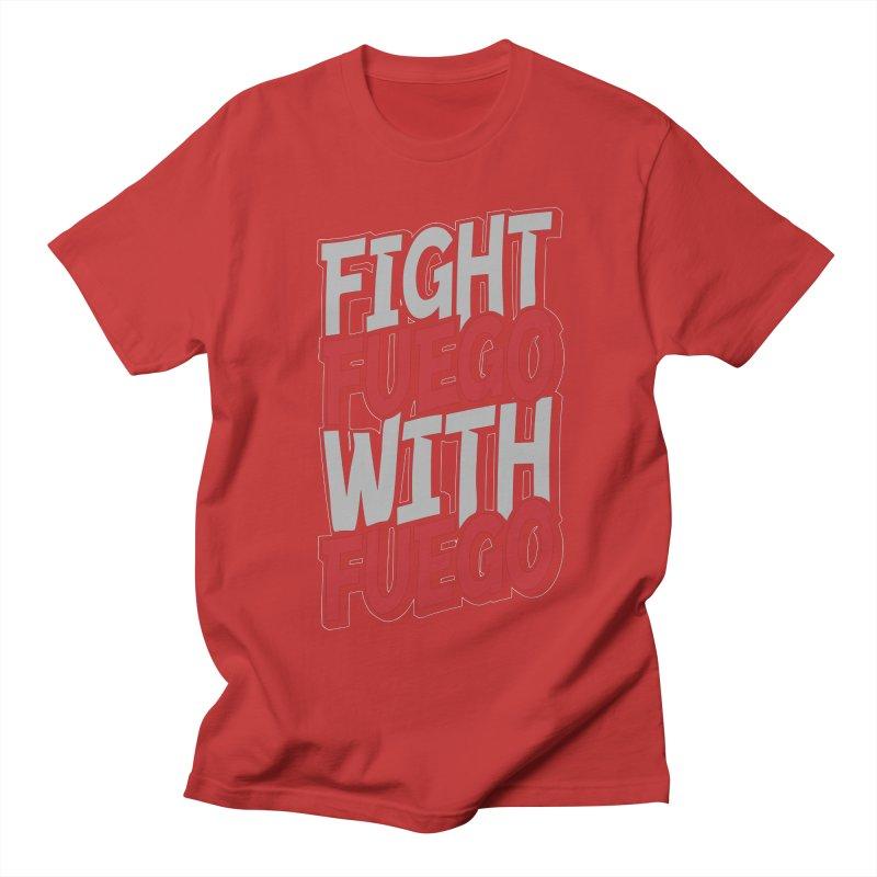 Fight Fuego With Fuego Men's T-Shirt by Grandio Design Artist Shop