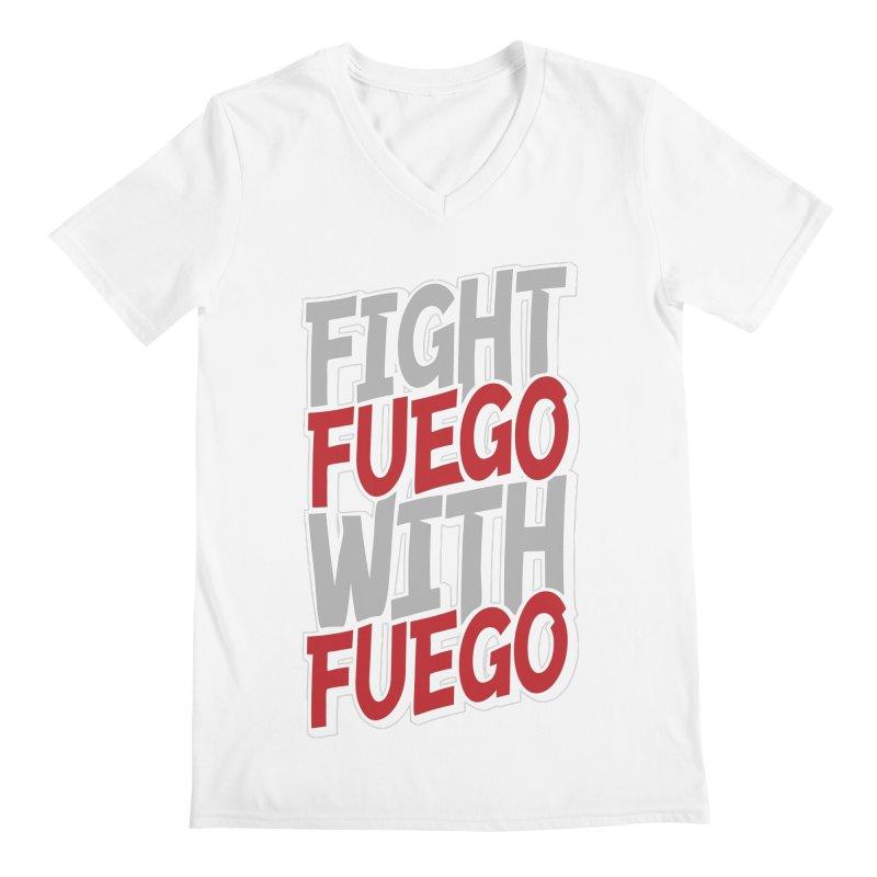 Fight Fuego With Fuego Men's V-Neck by Grandio Design Artist Shop