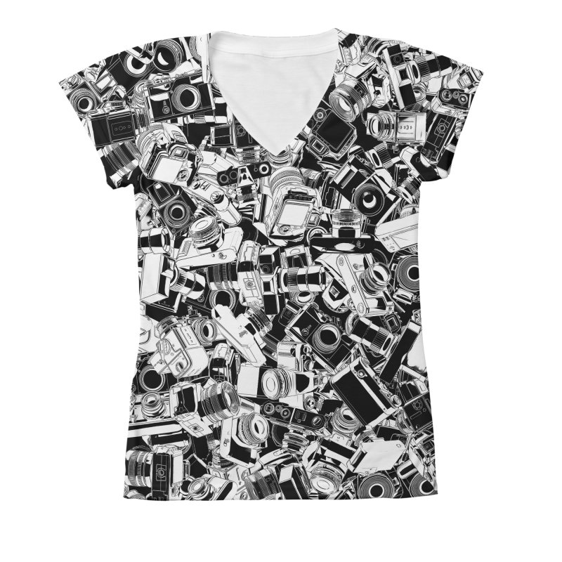 Shutterbug Women's V-Neck All Over Print by Grandio Design Artist Shop