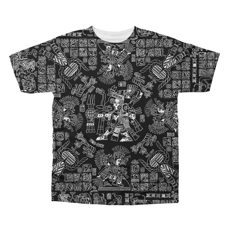 Mayan Spring B&W II Men's Regular All Over Print by Grandio Design Artist Shop
