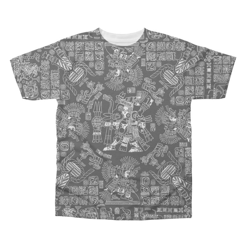 Mayan Spring B&W II Men's Triblend All Over Print by Grandio Design Artist Shop