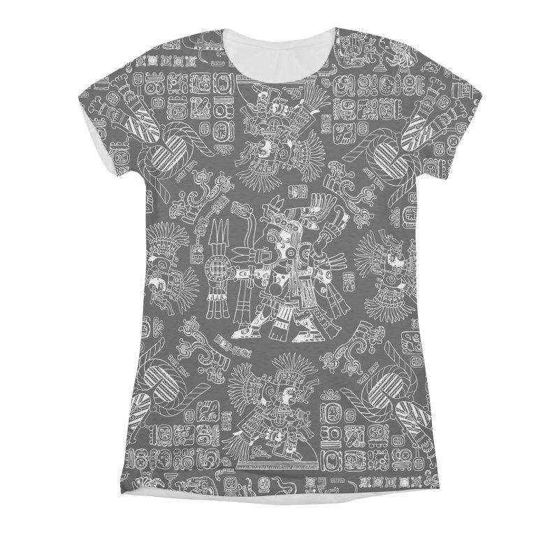Mayan Spring B&W II Women's Triblend All Over Print by Grandio Design Artist Shop