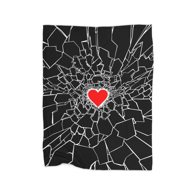 Heartbreaker III Black Home Blanket by Grandio Design Artist Shop