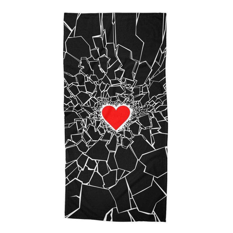Heartbreaker III Black Accessories Beach Towel by Grandio Design Artist Shop