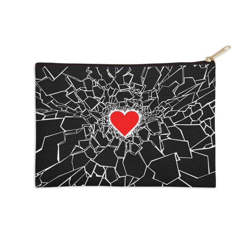 Heartbreaker III Black Accessories Zip Pouch by Grandio Design Artist Shop