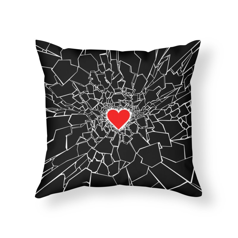 Heartbreaker III Black Home Throw Pillow by Grandio Design Artist Shop