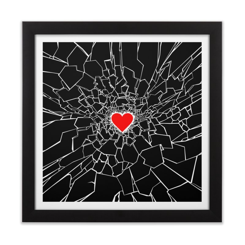 Heartbreaker III Black Home Framed Fine Art Print by Grandio Design Artist Shop